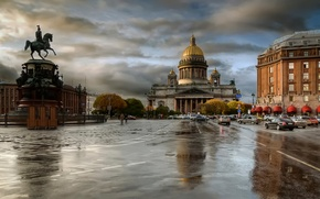 Картинка осень, дождь, пасмурно, Питер, St Petersburg