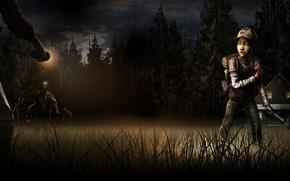 Картинка Зомби, Ситуация, The Walking Dead, Telltale Games, A Telltale Games Series, Выжившие, Клементина, Молоток, Season …