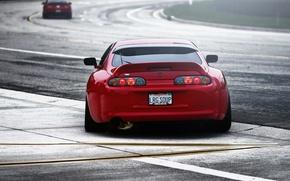 Картинка TRD, Red, Машина, Toyota, Тюнинг, Красная, Трек, Тайота, Tuning, Supra, Супра