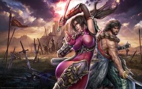 Картинка оружие, игра, мечи, воины, game wallpapers, Soulcalibur: Lost Swords