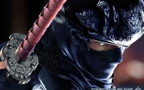 Картинка катана, маска, ниндзя, убийца, наёмник, Ryu Hayabusa, Dead or Alive