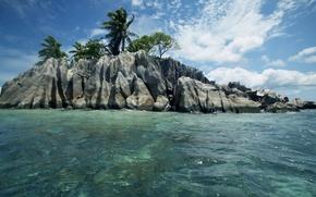 Картинка природа, океан, отдых, relax, Сейшелы, экзотика, islands Seychelles