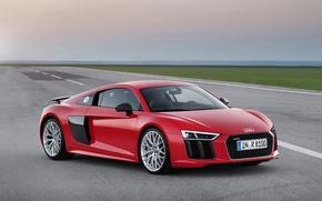 Картинка красный, Audi, ауди, V10, 2015
