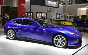 Картинка Ferrari, автосалон, Gran Turismo, Ferrari GTC4Lusso T