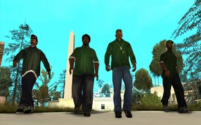 Обои Райдер, Карл Джонсон, Grand Theft Auto, Sweet, Мелвин Харрис, San Andreas, Биг Смоук, Шон Джонсон, ...