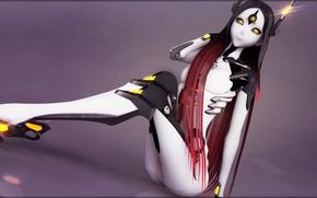 Картинка девушка, робот, vocaloid, длинные волосы, вокалоид, tri-oxygen luka