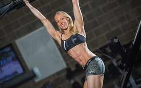 Обои abs, blonde, fitness