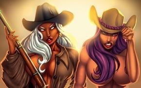 Обои psylocke, storm, Elizabeth Braddock, мутант, девушка, черная, X-Men, грудь, ororo munroe