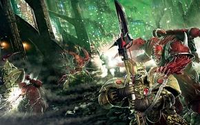 Картинка Horus Heresy, демоны, Warhammer 40k, Первый еретик, кустодианцы, Аарон Дембски-Боуден