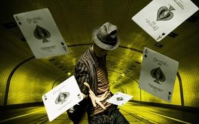 Картинка Men, Hat, Ace of Spades, Illusionist