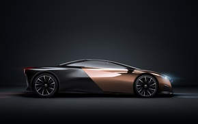 Картинка car, Concept, Peugeot, black, Onyx