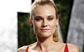 Картинка взгляд, звезда, блеск, серьги, актриса, блондинка, Diane Kruger, шик, фотомодель, немецкая, Диана Крюгер