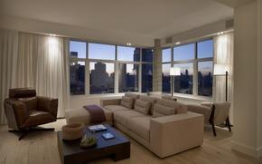 Обои дизайн, стиль, комната, интерьер, мегаполис, Soho