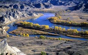 Картинка природа, река, горы, Montana's Missouri River
