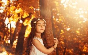 Картинка дерево, ребенок, девочка