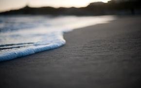 Картинка песок, море, пляж, пена, макро, фото, обои, берег, wallpapers