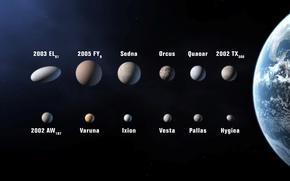 Картинка космос, астероиды, Земля