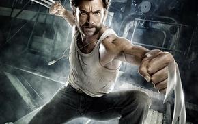 Обои металл, герой, когти, Росомаха, кулаки, Люди Икс: Начало, Hugh-Jackman