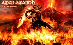 Картинка Огонь, Вулкан, Amon Amarth, Гигант, Surtur Rising