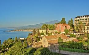 Обои море, Италия, дома, здания, побережье, Italy, город