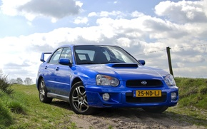 Картинка Subaru, Impreza, WRX, blue