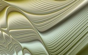 Картинка линии, абстракция, волна, объем