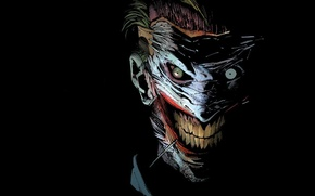 Картинка batman, джокер, joker, comics, masks