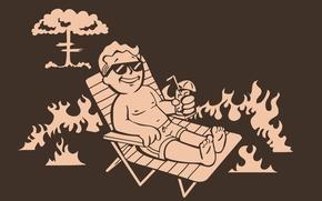 Картинка взрыв, загар, арт, коктейль, лежак, falluot