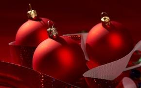 Картинка шарики, праздник, игрушки, новый год