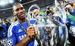 Обои Chelsea FC.Champion, Дидье Дрогба, Didier Drogba