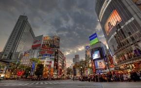 Обои japan, Shibuya, Sunset