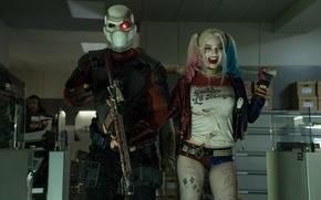 Картинка Харли Квинн, Deadshot, Марго Робби, Suicide Squad, Squad, Отряд самоубийц, Дедшот