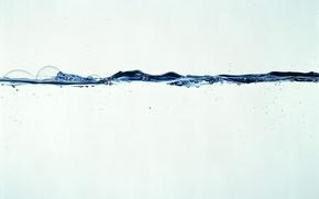 Картинка вода, линия, бульбачки