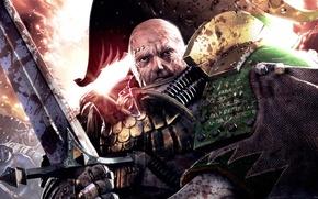 Картинка Warhammer 40k, captain, Death Guard, Nathaniel Garro, Space Marine Legion