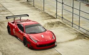 Картинка забор, Ferrari, пилот, red, феррари, красная, 458, италия, Italia