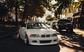 Картинка белый, бмв, BMW, white, tuning, E46