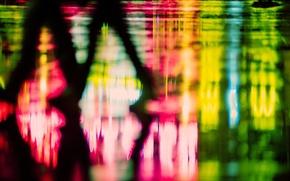 Картинка макро, свет, фон, люди, widescreen, обои, ноги, человек, размытие, силуэт, wallpaper, фигуры, разное, широкоформатные, background, ...