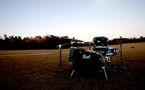 Картинка поле, pearl, барабанная установка