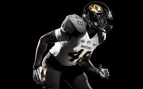 Картинка номер, шлем, униформа, Nike, NCAA, Missouri Tigers, college football