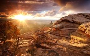 Картинка скалы, пустыня, Утро