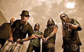 Картинка music, Five Finger Death Punch, альтернативный метал, хеви-метал, грув-метал, Chris Kael, Jeremy Spencer, Jason Hook, …