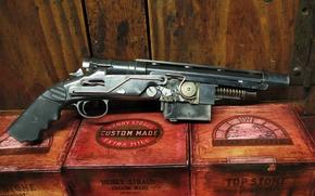 Картинка Gun, Steampunk, Grand Approximiser 3 Shot Pistole
