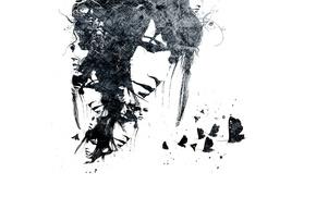 Картинка девушка, бабочки, лица, Moth, VHM Alex