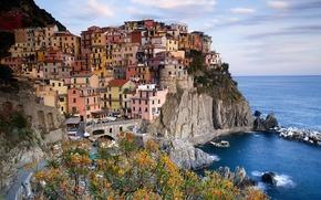Картинка море, городок, италия