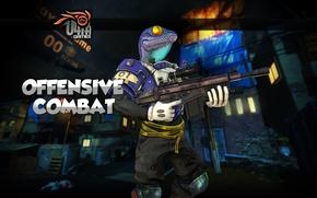Картинка ящерица, шутер, Иннова, Innova, 4game, фогейм, Offensive Combat, онлайн игра