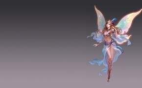 Картинка девушка, фентези, игра, крылья, арт, костюм