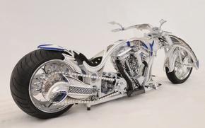 Картинка дизайн, стиль, фон, тюнинг, мощь, мотоцикл, форма, аэрография, байк