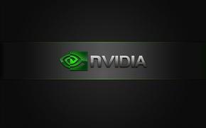 Картинка green, Nvidia, black, Logo