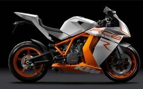 Обои KTM RC8, тёмный фон, Мотоцикл