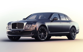 Картинка Bentley, 2015, Speed Blue Train, Mulliner, бентли, Mulsanne